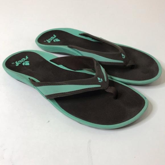 buy popular 4c68b 33abc Reef Flip Flops Women Size 10 Sandals